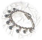 Click here to enlarge image and see more about item 0320200343: Sterling Silver Toggle Clasp Charm Bracelet