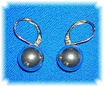 Earrings 14K Leverback Gold Ball