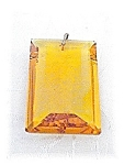 Vintage Faeted Oblong Amber Glass Pendant
