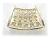 Click to view larger image of 14K Gold 2 Ct CZ Omega Slide  Pendant  (Image3)