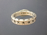 Click to view larger image of Sterling Silver Stars Designer Ring By EX EX (Image1)