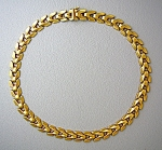 Necklace  14K Yellow Gold  Signed Aurelli 16 Inch