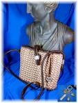 Click to view larger image of Brighton  Leather and Straw Shoulder Bag (Image1)