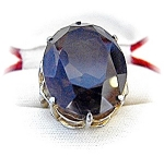 Click to view larger image of Sterling Silver Smokey Topaz Quartz Ring  (Image1)