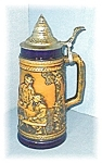 Click here to enlarge image and see more about item 0406200525: STEIN  GERZ LIDDED BEER