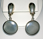 Sterling Silver Taxco Mexico Dangle Clip Earrings