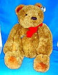 Click here to enlarge image and see more about item 0409200702: Gund Tan Fully Jointed Teddy Bear 21 Inch 1983