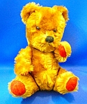 Mohair Jointed Teddy Bear Red Paws Squeeker Vintage