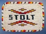 Click here to enlarge image and see more about item 0413200105: Beaded Belt Buckle - STOLT