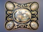 Click here to enlarge image and see more about item 0413200109: Belt Buckle cabachon stones