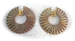 Beautiful Gold Over Silver TRIFARI Earrings