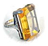 Click to view larger image of Huge Sterling Citrine Color Stone Ring . . . . . . . (Image4)