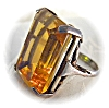 Click to view larger image of Huge Sterling Citrine Color Stone Ring . . . . . . . (Image5)