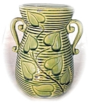Click here to enlarge image and see more about item 0413200338: SHAWNEE Green Vines & Leaves Vase