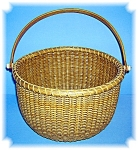 Click here to enlarge image and see more about item 0417200605: Basket Hand Made Nantucket  Signed JK