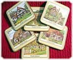 6 English Cottages Coasters.
