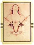 Click here to enlarge image and see more about item 0417200675: Cat  Print Lady Framed BUCHFIN 90(c)