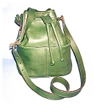Click to view larger image of COACH Leather Bucket Bag Green (Image1)