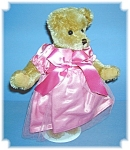 Click here to enlarge image and see more about item 0417200686: 10 Inch Mohair Dressed In Pink Teddy Bear