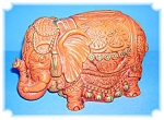 Click here to enlarge image and see more about item 0417200688: BANK - 1967 Universal Corporation Elephant Bank . . . .