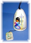 Click here to enlarge image and see more about item 04172006: 5 1/4 Inch Tall Handpainted De Grazia Bell