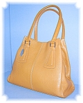 Tan Leather Tignanello Tote Bag