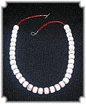 28 Inch White Turquoise And Coral Necklace
