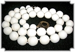 Click to view larger image of 22 Inch Pre 1949 Ivory 13mm Bead Necklace (Image1)