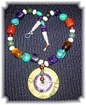 Click to view larger image of Jade Amethyst Tigereye Carnelian Turquoise Ne (Image1)