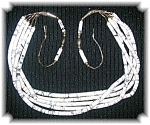 Click to view larger image of Necklace White Turquoise 5 Strand Sterling Silver Clasp (Image1)