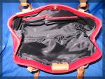 Click to view larger image of Red Leather FOSSIL handbag, new with tags (Image2)