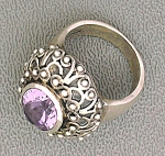 Amethyst Sterling Silver Ring Indonesia