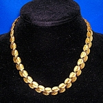 Gold Leaves Choker Necklace 17 Inch