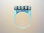 Click to view larger image of Sterling Silver High Set Ring With Flowers (Image1)