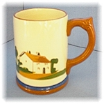 Click to view larger image of English Devon Ware Pottery Motto Mug (Image1)