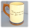 Click to view larger image of English Devon Ware Pottery Motto Mug (Image2)