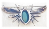Click to view larger image of NORDIC Jewelled Bug Brooch Sterling Silver (Image2)