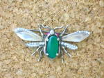 Click to view larger image of NORDIC Jewelled Bug Brooch Sterling Silver (Image5)