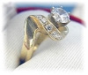 Click to view larger image of Ring 14 K Gold 1 1/4 round Channel Set CZ's (Image2)