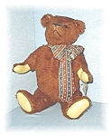 Click here to enlarge image and see more about item 0429200503: 14 Inch Handmade THEO Brown  Bear