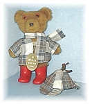 Click here to enlarge image and see more about item 0429200504: Sherlock Welly Bear made in Scotland by Laura Grant