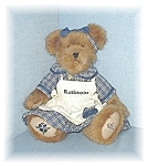 Click here to enlarge image and see more about item 0429200505: 14 Inch BOYDS Bluebearies Teddy Bear