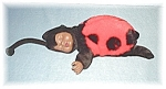 Click here to enlarge image and see more about item 0429200517: Tiny ANNE GEDDES Black Face Lady Bug Doll