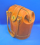 VINTAGE BROWN LEATHER HANDBAG PURSE,