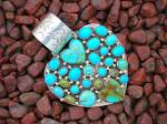 Rocki Gorman Sterling Silver KingmanTurquoise Hearts
