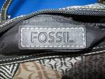 Click to view larger image of Fossil Leather and Microfibre Patch Look Handbag (Image3)