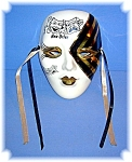 Click here to enlarge image and see more about item 0504200664: New Orleans Hand Painted Mask By Sally