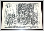 Click here to enlarge image and see more about item 0506200625: Framed New Orleans Pencil Print Brian McCarth