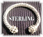 Click to view larger image of Sterling Silver  Designer Look Cuff (Image1)