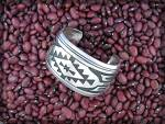 Click to view larger image of TOMMY SINGER  Sterling Silver Navajo Cuff USA (Image4)